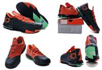 Low Cut Men PU New Model Hot Sale Kevin Durant KD 6 Texas Men's Basketball Sport Footwear Sneaker Shoes