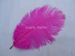 Wholesale! 100pcs lot Fuchsia Ostrich Feathers 30-35CM 12-14inch Ostrich Plumes Wedding Centerpieces,free shipping