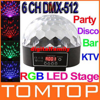 led lights disco - 6 Channel DMX512 Control Digital LED RGB Crystal Magic Ball Effect Light DMX Disco DJ Stage Lighting
