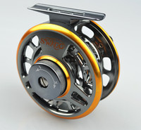 Wholesale fiee shipping SHA series Double color Aminum Die casting Fly Fishing reels