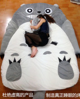 Wholesale Big Huge Cartoon Cute Grin Pattern Totoro Double Bed Sofa Sleeping Bag CM Mattress Large Gift