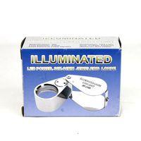 Wholesale White Illuminated Whistle Style x21mm Loupe X Magnifier With LED Light Jewler s Loupe Best price