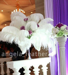 wholesale 100pcs lot 12-14inch White Ostrich Feather Plume ,AAA quality for wedding centerpieces table decoration many size to choose