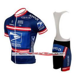 Wholesale cycling clothing United States Postal shorts sleeve cycling jersey cycling bib shorts sets Blue cycling clothes