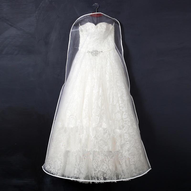 Clear wedding dress garment storage bags breathable high for Storing wedding dress in garment bag