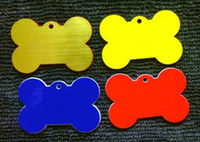 Wholesale 40 mm DIY plastic bone dog pet ID tag card