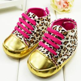 Wholesale Retail Hot Children s Shoes Leopard Print Velcro Non Slip Soft Bottom Baby First Walker Shoes
