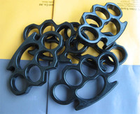 Wholesale THICK STEEL BRASS KNUCKLES KNUCKLE DUSTERS BLACK
