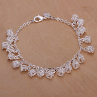 Wholesale Popular Silver Plated Bracelets Crown Charm Pendant Fine High quality Bangles For Women Gift