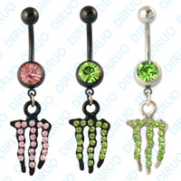 Wholesale Colors Dangle Ring Belly Ring Body Jewelry Body Piercing Jewelry