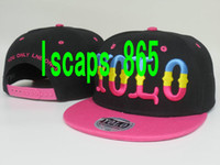 Ball Cap strap back hats - NEW Design Adjustable YOLO Snapbacks Many Styles Snapbacks Strap Back Hats Caps Snap back Baseball Hat Caps High Quality