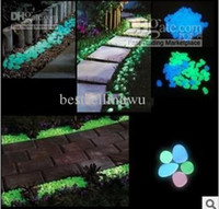 Decorative Stones   Artificial Pebble Stone Light Emitting Resin Glow Stones in the dark for Garden Fish Tank Decoration