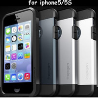 Wholesale SGP SPIGEN Tough Armor Armour Super Protect Shield Case Cover for Apple Iphone S TPU PC With Shockproof dirtproof phone case