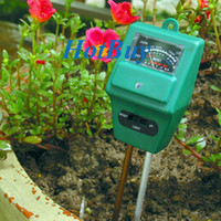 Wholesale 3in1 Plant Flowers Soil Moisture Light PH Meter Tester Plant Digital Analyzer