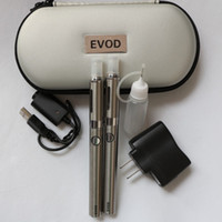 Electronic Cigarette Set Series  New Ego EVOD MT3 Double Electronic Cigarettes Kits MT3 Atomizer 650mah 900mah 1100mah Battery E Cigarette in Zipper case E Cigs USB charger