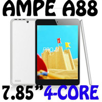 Cheap 7.85 inch Ampe A88 MINI Allwinner A31S DHL free Quad Core 1G 16GB Android 4.1 1024*768 Dual Camera Wifi HDMI Tablet PC