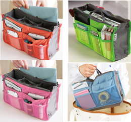 Wholesale Makeup Bag Purse Cosmetic MP3 Mp4 Phone Storage Organizer Sundry Bags Cosmetics Bags Multi Two Zipper Bag Factory Price