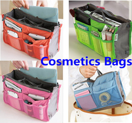 Wholesale 2014 New Makeup Bag Purse Cosmetic MP3 Mp4 Phone Storage Organizer Sundry Bags Cosmetics Bags Multi Two Zipper Bag Factory best perice
