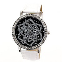 Wholesale 2013 New Hot lady full Rhinestone flower Watches Gift Watch Luxury Brand quartz Clock dress watch for women Dropship