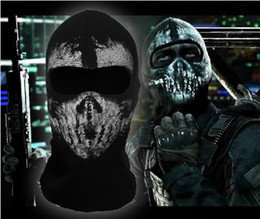 Wholesale High quality New call of duty X Ghosts Mask Outdoor Cycling Bike Motorcycle Windproof Mask CS game face mask Protagonist