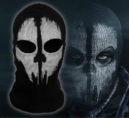 Wholesale New call of duty X Ghosts Mask Outdoor Cycling Bike Motorcycle Windproof Mask CS Game Face mask Protagonist