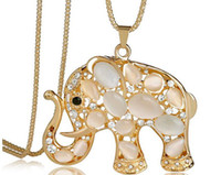 Asian & East Indian asian elephants - New Style Long Sweater Necklace Korean Fashion Necklaces Elephant Pattern Sweater Chain