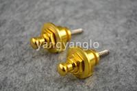 Wholesale 1 Pair Of Golden Round Head Electric Guitar Strap Locks Straplocks