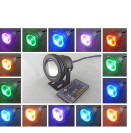 10W RGB Underwater Light LED Floodlight 12V Round Aquarium Fountain Lighting Flood Light Wash Lamp with Reflection Cup Free Shipping Retail