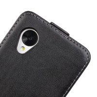 Wholesale New fashion Vertical Flip Real Genuine Leather Case Cover for LG Nexus E980 colors available