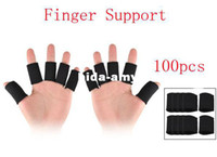 Wholesale Black Sports Basketball Fitness Neoprene Finger Support Protector