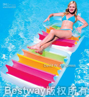 Wholesale Swimming Pool Float Pool Inflatable Folding Chair Lounges Pool Inflatable air mattress quot x quot