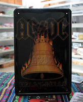 other acdc hells - Hot selling metal painting coffee decorative painting home decoration acdc hells bells