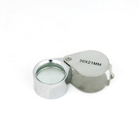 Wholesale 30x mm Magnifying Glass Jewelry Loupe Handheld Magnifier Hot Sale