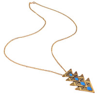 Wholesale Retro Enamel Triangle Pendant Necklace angel wings chokers necklaces vintage choker necklaces amulet jewelry women dreamcatcher