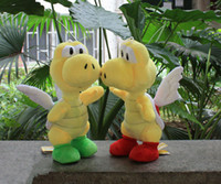"Wholesale Stuffed Green Turtle - Wholesale - Hot sale Free Shipping Super Mario Bros Flying Turtle Soft Stuffed Plush Doll Toys Red Green 15"" 38cm"