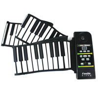 Wholesale New Silicon Flexible Roll Up Piano Standard Piano Keys Midi Out Rhythm Demonstration Songs D2268A