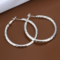 Wholesale 925 steling silver Round the water wave earings E341 gift boxes bags