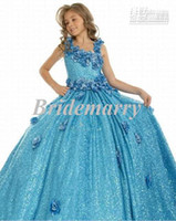 Model Pictures Baby Chiffon China facotry handmade flowers flower gril dresses designer girl's pageant dresses