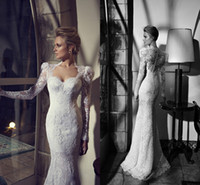 New 2014 Designer Scoop Sheer Sheath Wedding Dresses With La...