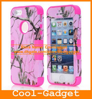 Wholesale Durable Piece Camouflage Hybrid High Impact Combo Hard Case Silicone Cover Pouch for iPhone S G iPhone5 IP5SC04