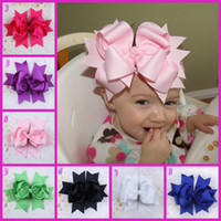 Wholesale Big Bow Stretch Headband for Infants to Big Girl Infant hairbow Girls Birthday Party Hair Clip Hair Bow
