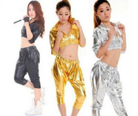 Wholesale Jazz dance clothes ds stage costumes HIP HOP harem style fashion suit sexy nightclub clothing Stage Evening Show Singer Suit