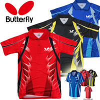 Wholesale New Butterfly Table Tennis Wears T shirt Clothes Men No Colors