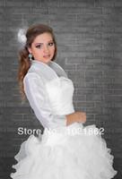 Jackets/Wraps armed beige - Custom Made Wedding Bridal Ivory White Organza Bolero Shrug Jacket We Need Your Bust Soulder and Shoulder Arm Hole AL0082