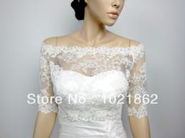 Off-Shoulder Alencon Lace bolero jacket Bridal Bolero Wedding jacket wedding bolero bridal shrug bridal jacket AL0090