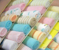 Wholesale USA Brand Baby Wash Cloth quot x9 quot Infant Towel Kids Cotton Handkerchief Children Bib Face Cloth pack
