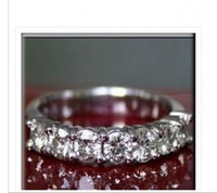 Wholesale 0 CT MOISSANITE ROUND SEMI ETERNITY WEDDING BAND RING