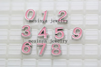 Wholesale assorted pink numbers crystal designs floating charms for glass memory living floating locket pendant Xmas gift no locket