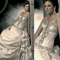 Ball Gown Reference Images Sweetheart 2014 New Arrival Ball Gown Wedding Dress Bridal Gowns Berta Bridal With Sweetheart Sleeveless Lace-up Sweep Train Crystal Beads Sequins Bt85