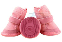Wholesale 2014 Hot Fashion Set Chihuahua Dog Warmmer Shoes Boots Pet Peppy Winter Apparel D2_20